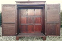 Flame mahogany antique wardrobe6.jpg