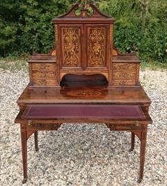 24052018Antique Rosewood Writing Desk 23d 42w 28½h to writing surface 29½h to surface 58h max _12.JPG
