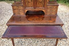 24052018Antique Rosewood Writing Desk 23d 42w 28½h to writing surface 29½h to surface 58h max _13.JPG