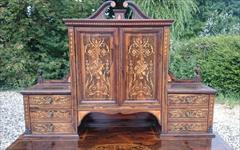 24052018Antique Rosewood Writing Desk 23d 42w 28½h to writing surface 29½h to surface 58h max _14.JPG