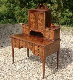 24052018Antique Rosewood Writing Desk 23d 42w 28½h to writing surface 29½h to surface 58h max _5.JPG