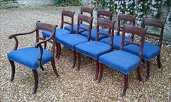 260520189 regency mahogany antique dining chairs 33h 22w 22d 18h carver 33h 20w 22d 18h single _3.JPG