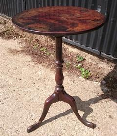 181220181780 Antique Tripod Wine Table 18½ 18¾ w 28¾ h _11.JPG