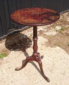 181220181780 Antique Tripod Wine Table 18½ 18¾ w 28¾ h _13.JPG