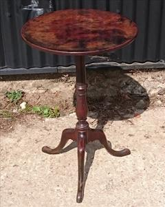181220181780 Antique Tripod Wine Table 18½ 18¾ w 28¾ h _9.JPG