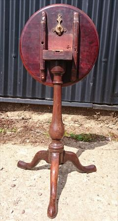 240120191780 Mahogany Tripod Wine Table 13¼ top 22h _3.JPG
