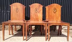 300120191800 Set of Six Hall Chairs 23¾w 23d 17¼ hs 37h _5.JPG