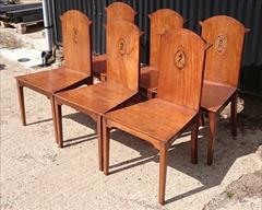 300120191800 Set of Six Hall Chairs 23¾w 23d 17¼ hs 37h _3.JPG