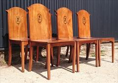 300120191800 Set of Six Hall Chairs 23¾w 23d 17¼ hs 37h _7.JPG