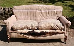 070220191910 Antique Sofa by Howard and Sons 62 or 158cmw 20 or 51cmh 32 or 82cmh 36 or 91cmh _1.JPG