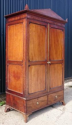 0703201919th century antique flatpack wardrobe 26 or 66cm deep 51 or 130cm wide 82¼ or 209cm high and 58 or 22¾cm inside depth _9.JPG