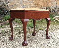 Cabriole leg antique piano stool3.jpg