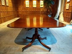 1305201918th Century Four Pedestal Antique Dining Table 62W 29H 215L _14.jpg