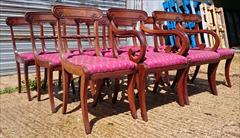 0607201912 early 19th century Regency mahogany antique dining chairs the carver 22w 34h 18hs 21d the singles 18w 34h18hs 19½d _2.JPG