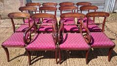 0607201912 early 19th century Regency mahogany antique dining chairs the carver 22w 34h 18hs 21d the singles 18w 34h18hs 19½d _5.JPG