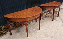 0607201918th Century Pair of Antique Mahogany Demi Lune Tables 26¼ d 53½ w 28¼ 23 clearance 4.JPG