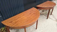 0607201918th Century Pair of Antique Mahogany Demi Lune Tables 26¼ d 53½ w 28¼ 23 clearance 6.JPG