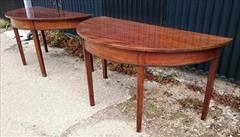 0607201918th Century Pair of Antique Mahogany Demi Lune Tables 26¼ d 53½ w 28¼ 23 clearance 8.JPG