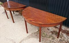 0607201918th Century Pair of Antique Mahogany Demi Lune Tables 26¼ d 53½ w 28¼ 23 clearance 9.JPG