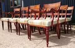 2408201912 Early Nineteenth Century Regency Mahogany Dining Chairs Attributed to Gillow Carver 22w 22d 33h single 19w 21d 33h _12.JPG