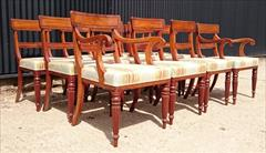 2408201912 Early Nineteenth Century Regency Mahogany Dining Chairs Attributed to Gillow Carver 22w 22d 33h single 19w 21d 33h _5.JPG