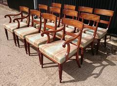 2408201912 Early Nineteenth Century Regency Mahogany Dining Chairs Attributed to Gillow Carver 22w 22d 33h single 19w 21d 33h _6.JPG