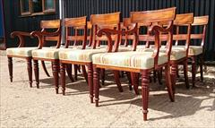 2408201912 Early Nineteenth Century Regency Mahogany Dining Chairs Attributed to Gillow Carver 22w 22d 33h single 19w 21d 33h _8.JPG