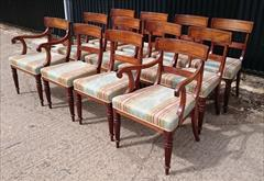 2408201912 Early Nineteenth Century Regency Mahogany Dining Chairs Attributed to Gillow Carver 22w 22d 33h single 19w 21d 33h _9.JPG