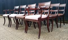2809201912 Regency Mahogany Antique Dining Chairs Attributed to Gillow Carver 22d 33h 21w 18½s Single 20½d 33h 19w 18hs _11.JPG