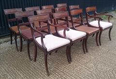 2809201912 Regency Mahogany Antique Dining Chairs Attributed to Gillow Carver 22d 33h 21w 18½s Single 20½d 33h 19w 18hs _2.JPG