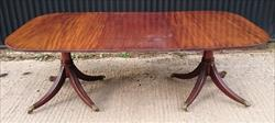 3009201919th Century George III Twin Pedestal Antique Dining Table 46 w 28 h 83½ w _1.JPG