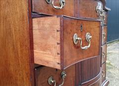 121020191760 Serpentine Front Antique Chest of Drawers Tambour 40¾W 21D 34H 14.JPG