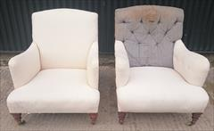 1510201919th Century Pair of Antique Howard and Sons Turned Leg Bridgewaters 27w 27d frame 37d _1.JPG
