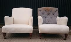 1510201919th Century Pair of Antique Howard and Sons Turned Leg Bridgewaters 27w 27d frame 37d _3.JPG