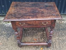 111120191710 Oak Antique Side Table 18½d 26½ 24h _2.JPG