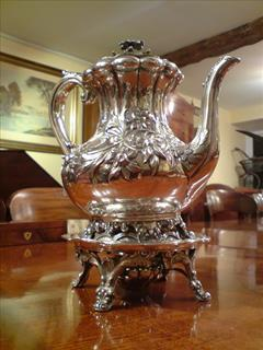 George IV period antique silver coffee pot.jpg