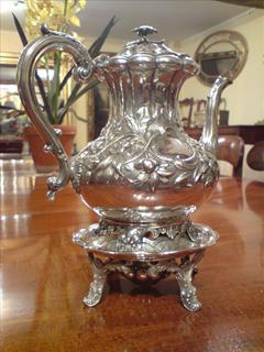 George IV period antique silver coffee pot2.jpg