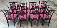 1811201919th Century Set of Twelve Chippendale Dining Chairs by Edwards and Roberts Carver 18½hs 40½h 27w 23d Single 18hs 39h 22w 21½d _15.JPG