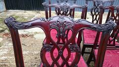 1811201919th Century Set of Twelve Chippendale Dining Chairs by Edwards and Roberts Carver 18½hs 40½h 27w 23d Single 18hs 39h 22w 21½d _17.JPG