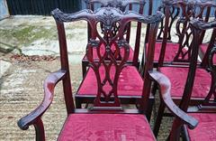 1811201919th Century Set of Twelve Chippendale Dining Chairs by Edwards and Roberts Carver 18½hs 40½h 27w 23d Single 18hs 39h 22w 21½d _18.JPG