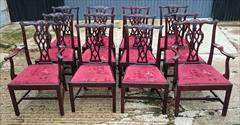 1811201919th Century Set of Twelve Chippendale Dining Chairs by Edwards and Roberts Carver 18½hs 40½h 27w 23d Single 18hs 39h 22w 21½d _2.JPG