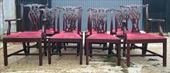 1811201919th Century Set of Twelve Chippendale Dining Chairs by Edwards and Roberts Carver 18½hs 40½h 27w 23d Single 18hs 39h 22w 21½d _4.JPG