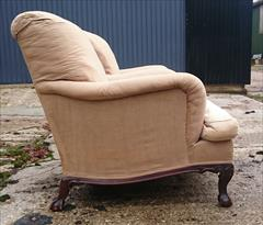 101220191910 Pair of Antique Howard and Sons Armchairs 36d max 31d frame 27½w frame 30w max arms 17hs 35h max _11.JPG