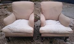 101220191910 Pair of Antique Howard and Sons Armchairs 36d max 31d frame 27½w frame 30w max arms 17hs 35h max _20.JPG