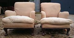 101220191910 Pair of Antique Howard and Sons Armchairs 36d max 31d frame 27½w frame 30w max arms 17hs 35h max _21.JPG