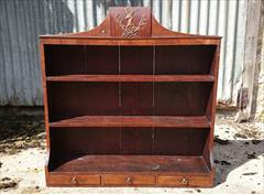 mahogany antique wall hanging shelves.jpg