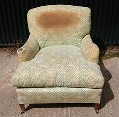 1950s Howard Titchfield Chair 47d max 37d tol 32 wide max 33 w arms 34 h 18 hs 3.JPG