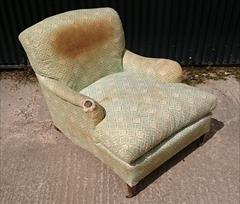 1950s Howard Titchfield Chair 47d max 37d tol 32 wide max 33 w arms 34 h 18 hs 4.JPG