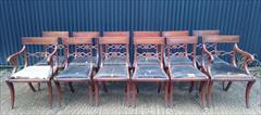 12 antique dining chairs carver 21½w 22d 34h single 18½w 20d 34h 18hs 1.JPG