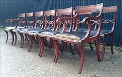 12 antique dining chairs carver 21½w 22d 34h single 18½w 20d 34h 18hs 12.JPG